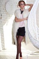Жилет из меха лами (белый) Модель 200626