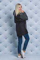 Стильное женское пальто черный горох, фото 2