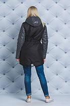 Стильное женское пальто черный горох, фото 3