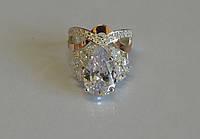 Кольцо из серебра с золотыми вставками №99н, фото 1