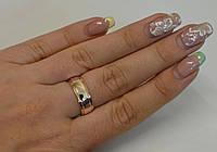 Обручальное серебряное кольцо №6н, фото 1