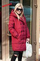 Модное женское пальто в стиле oversize (плащевка Канада, двубортное, капюшон, длинные рукава) РАЗНЫЕ ЦВЕТА