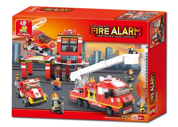 Конструктор Sluban M38-B0227 Пожарные спасатели 727 деталей