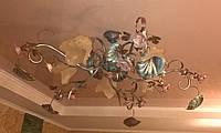 Люстра подвесная в стиле флористика на пять плафонов 527/5 CI