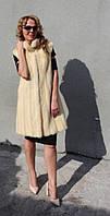 Жилет из меха норки (белый) Модель 200330