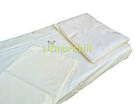 Постельный набор в детскую кроватку (3 предмета) Рюшки молочное