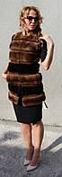 Жилет из меха норки (поперечка) Модель 200536