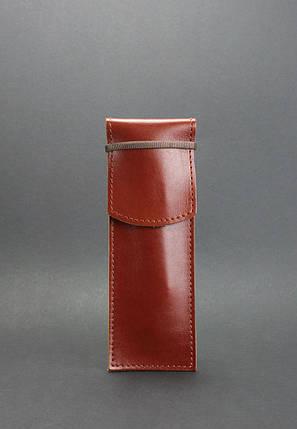 Кожаный чехол для ручек 1.0 Коньяк (+эко-ручка и карандаш), фото 2