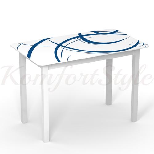 Стол стеклянный кухонный на деревянных ножках Монарх Мегаполис