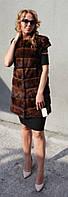 Жилет из меха норки (поперечка) Модель 200538