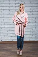 Пальто женское кашемировое персик