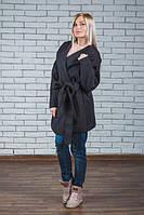 Пальто женское кашемировое темно-серое