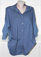 """Рубашка женская удлиненная с рисунком на спине, размер 48-54 Серии """"ITALIA"""" купить оптом в Одессе на 7 км"""