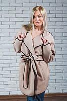 Пальто женское кашемировое беж