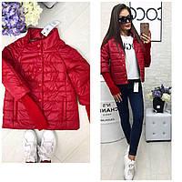 Куртка женская,  модель 205, вишня, фото 1