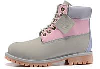 Женские ботинки Timberland, серые/розовые