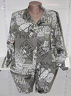 """Рубашка женская удлиненная с надписями, размер 48-54 Серии """"ITALIA"""" купить оптом в Одессе на 7 км"""