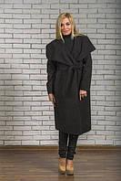 Пальто женское кашемировое длинное черное