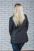 Женская стеганная куртка черная, фото 2