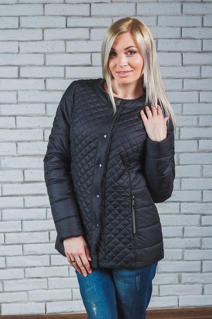 Женская стеганная куртка черная