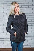 Женская стеганная куртка черная, фото 3