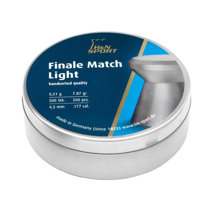 Пули пневматические H&N Finale Match Light, 4,49 мм , 0.51 г, 500 шт/уп