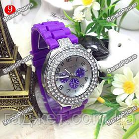 Женские часы Geneva Crystal Classiс фиолетовые
