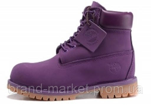 Женские ботинки Timberland (Тимберленд), фиолетовые   без меха - Магазин  обуви Brand Market 8856d0648a6