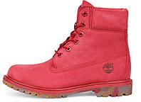Женские ботинки Timberland, красные