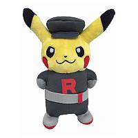 Мягкие плюшевые игрушки Покемон Pikachu Raketa  22 см.