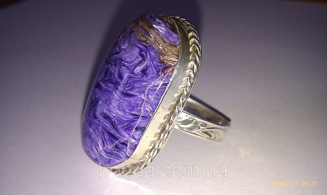 Кольцо с чароитом (Забайкалье)
