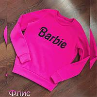 Женский свитшот батник флис Barbie 42-46 Женские свитера, свитшоты, регланы, худи опт розница недорого теплые