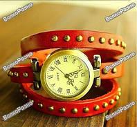 Женские наручные часы браслет JQ красного цвета