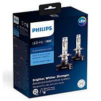 Лампа светодиодная  Philips H4 LED 12/24V  6500K / X-tremeUltinon LED + 200% больше света на дороге