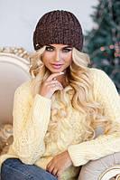 Зимняя женская шапка «Кевин» Светло-коричневый