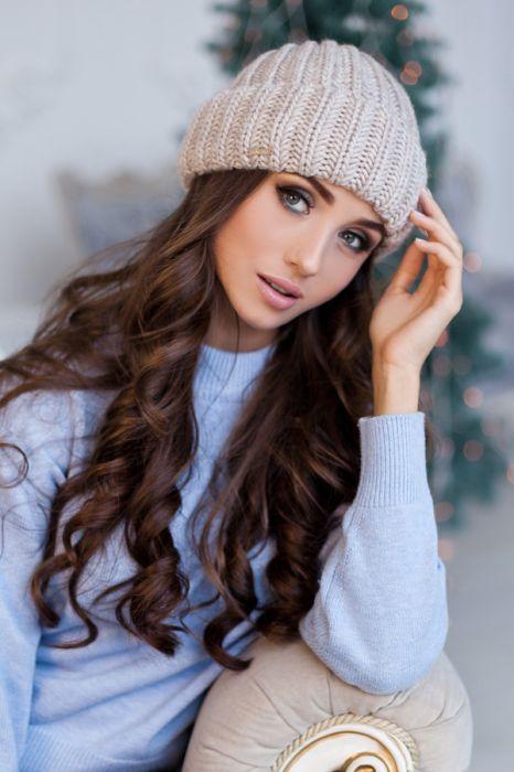 Зимняя женская шапка «Кевин» Светлый кофе