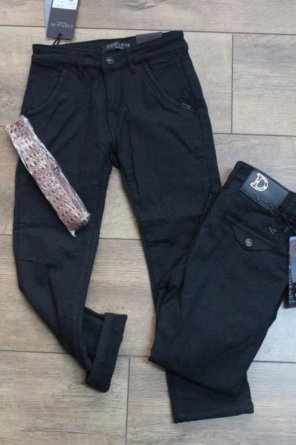 Утеплені штани для хлопчика Шкільні Розмір 10 років Чорні