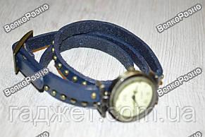 Женские наручные часы-браслет синего цвета., фото 2