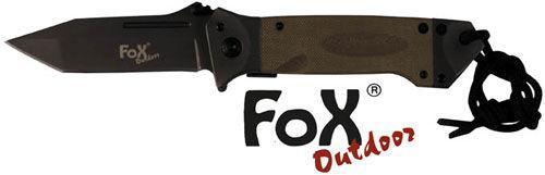 Нож складной с ручкой G10 койот Fox Outdoor 45531R