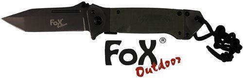 Нож складной с ручкой G10 тёмно-зелёный Fox Outdoor 45531B