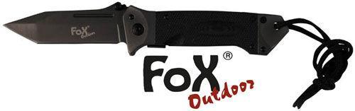 Нож складной с ручкой G10 чёрный Fox Outdoor 45531A