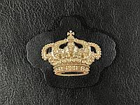 Нашивка Корона золотая черная 57х48мм