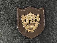 Нашивка Герб FS (fashion style ) золотая  41х48мм
