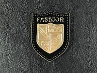 Нашивка Герб Fashion classic  золотая  35х42 мм