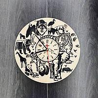 Настенные часы дизайнерские Джунгли