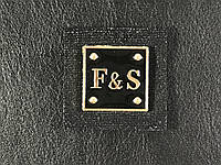 Нашивка F&S (Fashion style) цвет черный 35х35мм