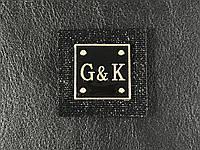 Нашивка G&K цвет черный 35х35мм
