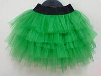 Юбочки для маленьких принцесс зеленая с черной резинкой