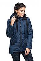Демисезонная куртка-парка, синий, р.44 - 54