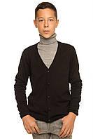 """Теплая шерстяная кофта """"Спенсер"""", для мальчика, цвет черный,"""